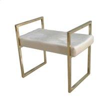 Gold / Beige Velveteen Bench