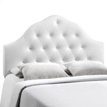 Sovereign Full Upholstered Vinyl Headboard in White