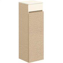 Side cabinet - Bright Oak/Glass Crème