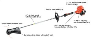 SRM-225 Trimmer, Weed trimmer, Fuel Efficient, Straight Shaft Weed Trimmer