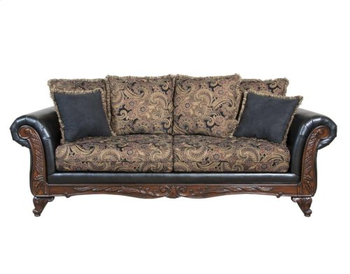 7685 Silas Ebony Sofa Only
