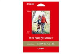 Canon Photo Paper Plus Glossy II - PP-301 - 5x7 (20 Sheets) Photo Paper Plus Glossy II