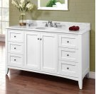 "Shaker Americana 60"" Single Bowl Vanity - Polar White Product Image"