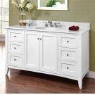 """Shaker Americana 60"""" Single Bowl Vanity - Polar White Product Image"""