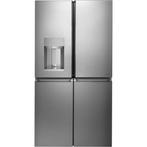 CafeENERGY STAR ® 27.4 Cu. Ft. Smart Quad-Door Refrigerator in Platinum Glass