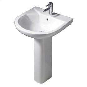 Anabel Pedestal Lavatory - White