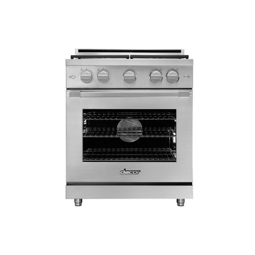 """30"""" Heritage Gas Pro Range, Silver Stainless Steel, Natural Gas/High Altitude"""