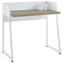 Relay Wood Writing Desk in White Natural