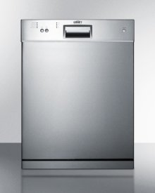 "24"" Wide Dishwasher With Stainless Steel Door"