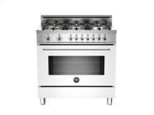 White 36 6-Burner, Electric Self-Clean Oven