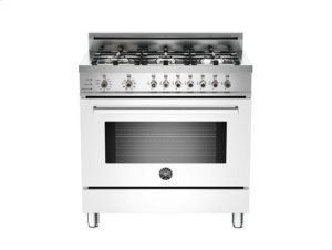 White 36 6-Burner, Electric Self-Clean Oven