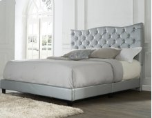 "Marilyn King Bed, Silver 82""x4""x58"""