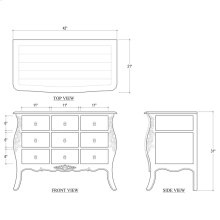 Bombe Commode 9 Drawers