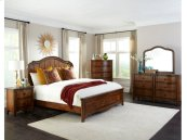 Luciano King Panel Bed Universal Rail