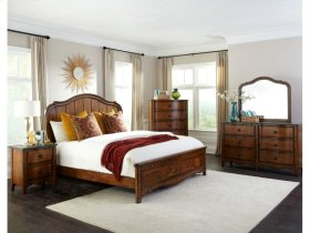 Luciano Queen Panel Bed Standard Rail