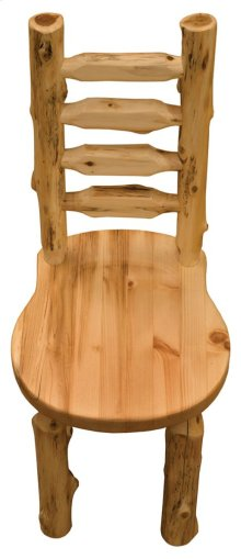 Bistro Ladder-back Side Chair Wood Seat