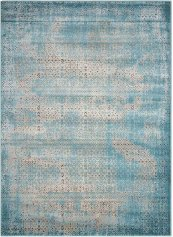 Karma Krm01 Blu Rectangle Rug 5'3'' X 7'4''