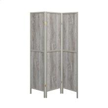 Rustic Grey Driftwood Three-panel Screen