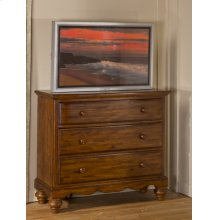 Hamptons TV Chest - Dark Pine