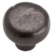 Distressed Round Knob 1 3/8 Inch - Oil Rubbed Bronze