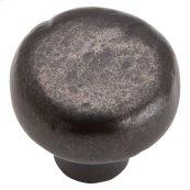 Distressed Round Knob 1 3/8 Inch - Oil Rubbed Bronze
