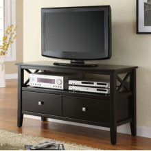 Black X-Side, 2-Drawer Media Console