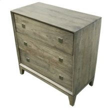 Bengal Manor Grey Acacia Wood 3 Drawer Chest