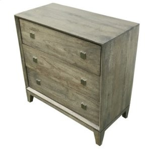 CRESTVIEW COLLECTIONSBengal Manor Grey Acacia Wood 3 Drawer Chest