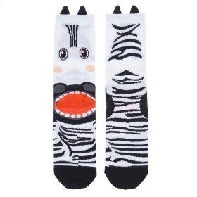 Zebra Heel Socks - Women's Size 9-11