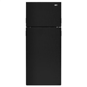 18 cu. ft. Top-Freezer Refrigerator with Integrated Handles - black