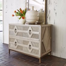 Diamond Two Drawer Cabinet