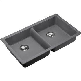 "Elkay Quartz Classic 33"" x 18-1/2"" x 5-1/2"", Undermount ADA Sink with Perfect Drain, Greystone"