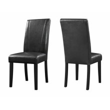 Nagel Dark Brown Faux Leather Parsons Dining Chair