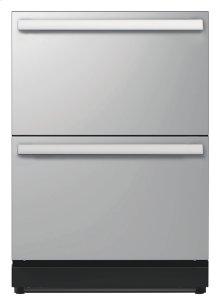 24 3/16 inch Under-counter Double Drawer Refrigerator Masterpiece Handle T24UR810DS