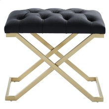 Rada Single Bench in Black and Gold