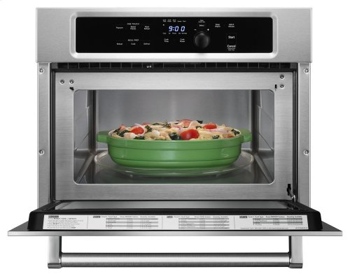 """24"""" Built In Microwave Oven with 1000 Watt Cooking - Stainless Steel"""