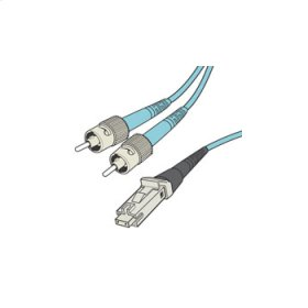 QSeries 50/125 10G Laser Optimized Multimode MTRJ-ST Duplex Fiber Cable - Plenum-Rated