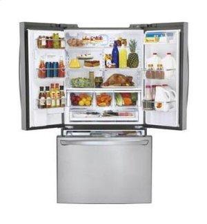 Super-Capacity 3 Door French Door Refrigerator with Smart Cooling Plus technology