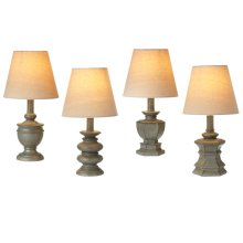 Distressed Grey Mini Accent Lamp. 40W Max. (4 pc. ppk.)