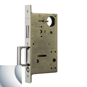 Polished Chrome 8602 Pocket Door Lock with Pull