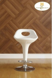 White Airlift Swivel Stool