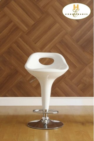 Ride White Airlift Swivel Stool