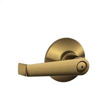 Elan Lever Bed & Bath Lock - Antique Brass
