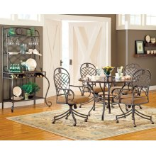 """Wimberly Bakers Rack 39"""" x 22"""" x 73"""" tempered glass"""