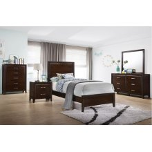 1006 Agathis Twin Bed with Dresser & Mirror