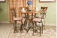 5-Pc. Hamilton Gathering Set - (1) 697-441 Gathering Table & (4) 697-726 Swivel Counter Stools Product Image