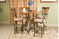 5-Pc. Hamilton Gathering Set - (1) 697-441 Gathering Table & (4) 697-726 Swivel Counter Stools Product Image