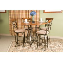5-Pc. Hamilton Gathering Set - (1) 697-441 Gathering Table & (4) 697-726 Swivel Counter Stools