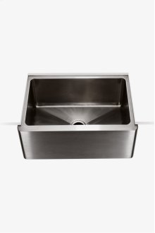 "Kerr 24"" x 18"" x 9"" Stainless Steel Farmhouse Apron Kitchen Sink with Center Drain STYLE: KRSK70"