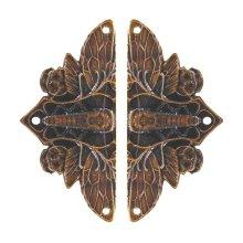 Cicada on Leaves - Dark Solid Bronze